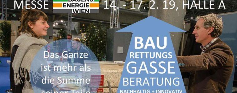 Baurettungsgasse auf der Bauen & Energie Messe Wien